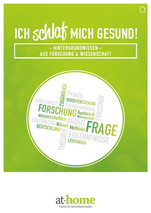 at-home Broschüre - Hintergrundwissen - Aus Forschung und Wissenschaft